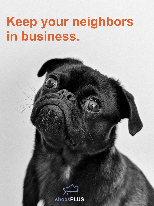 shoePLUS puppy dog eyes campaign